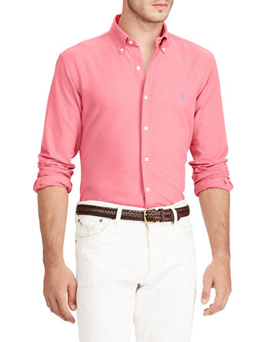 Polo Ralph Lauren Slim-Fit Cotton Sportshirt-RED-Large
