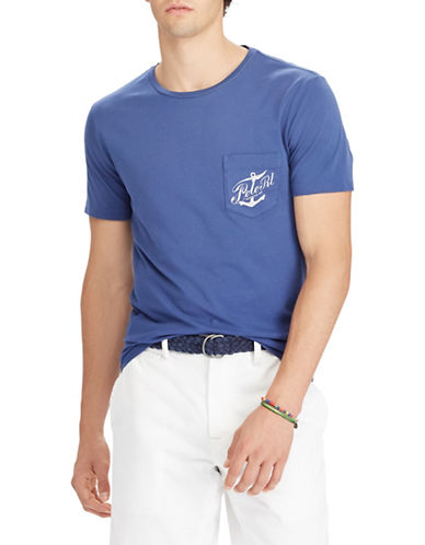 Polo Ralph Lauren Short Sleeve Cotton Tee-BLUE-Large