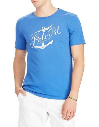 Polo Ralph Lauren Short Sleeve Cotton Tee-BLUE-Small