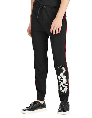 Polo Ralph Lauren Jogger Pants-BLACK-Small