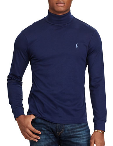 Polo Ralph Lauren Soft-Touch Cotton Turtleneck-NAVY-Small