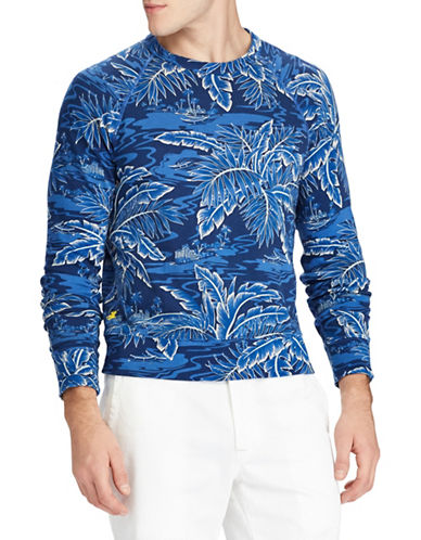 Polo Ralph Lauren Spa Cotton Sweatshirt-BLUE-Medium