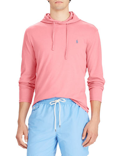 Polo Ralph Lauren Weathered Cotton Hoodie-RED-Large Tall