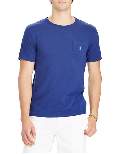 Polo Ralph Lauren Weathered Cotton Logo Tee-DARK BLUE-Large Tall