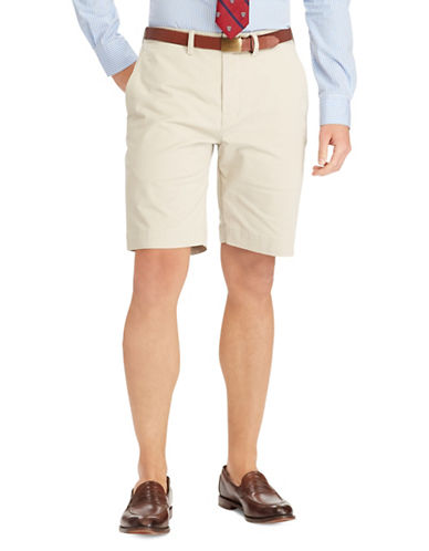 Polo Ralph Lauren Stretch Cotton Logo Shorts-NATURAL-50 Big