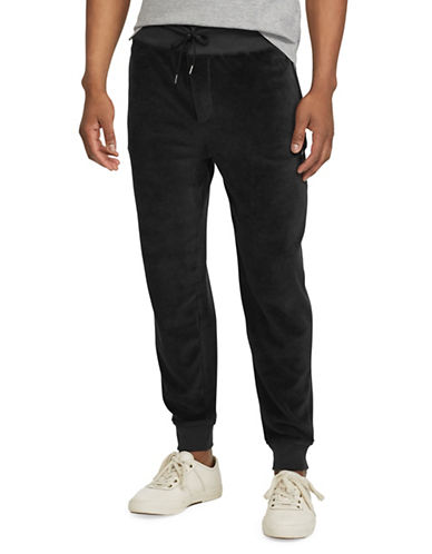 Polo Ralph Lauren Velour Jogger Pants-BLACK-3X Tall