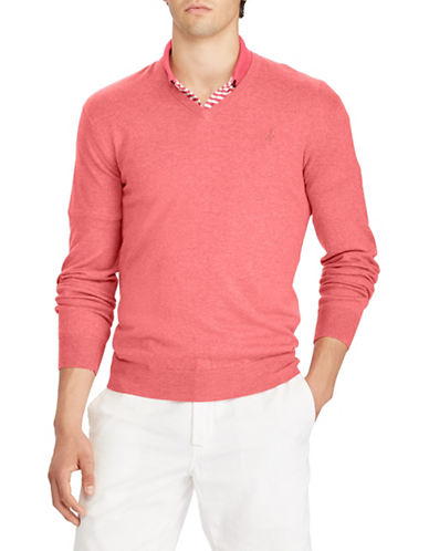Polo Ralph Lauren Cotton Long Sleeve Sweater-RED-X-Large