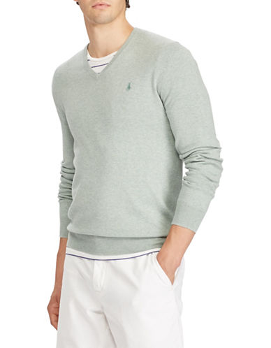 Polo Ralph Lauren Cotton Long Sleeve Sweater-GREEN-Medium