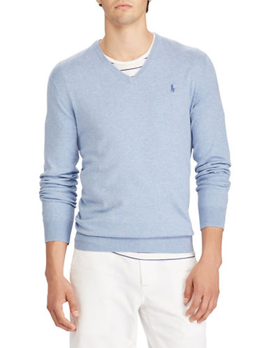Polo Ralph Lauren Cotton Long Sleeve Sweater-BLUE-Small