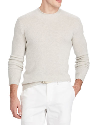 Polo Ralph Lauren Long Sleeve Cashmere Sweater-GREY-X-Large