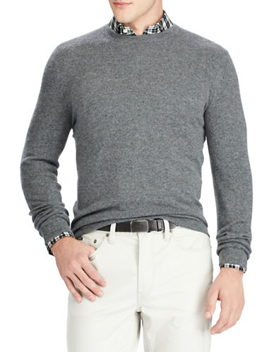 Polo Ralph Lauren Long Sleeve Cashmere Sweater-CHARCOAL-Small