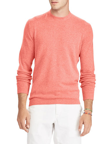 Polo Ralph Lauren Long Sleeve Cashmere Sweater-RED-X-Large