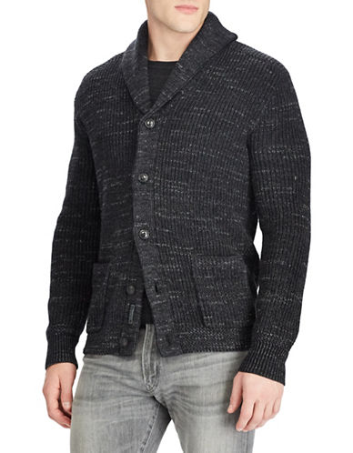 Polo Ralph Lauren Shawl-Collar Cotton Cardigan-CHARCOAL-X-Large