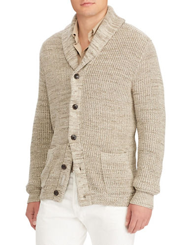 Polo Ralph Lauren Shawl-Collar Cotton Cardigan-NATURAL-Large