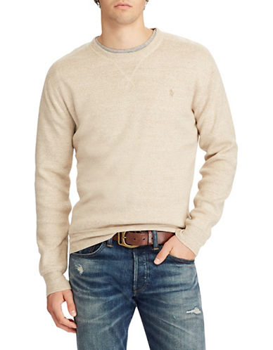 Polo Ralph Lauren Long Sleeve Cotton Sweater-NATURAL-Small