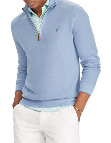 Polo Ralph Lauren Cotton Logo Sweater-LIGHT BLUE-5X Tall