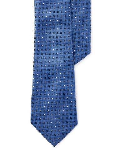 Lauren Ralph Lauren Basketweave Jacquard Silk Tie-BLUE-One Size