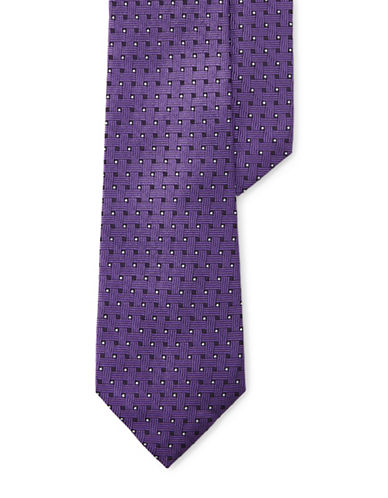 Lauren Ralph Lauren Basketweave Jacquard Silk Tie-PURPLE-One Size