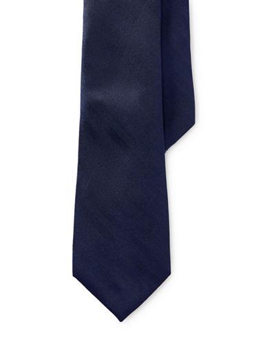 Lauren Ralph Lauren Herringbone Silk Tie-NAVY-One Size