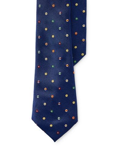 Lauren Ralph Lauren Pool Ball Silk Tie-BLUE-One Size