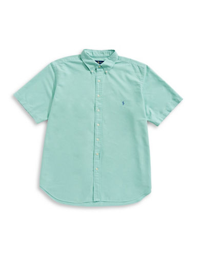 Polo Ralph Lauren Cotton Short Sleeve Sport Shirt-GREEN-1X Tall