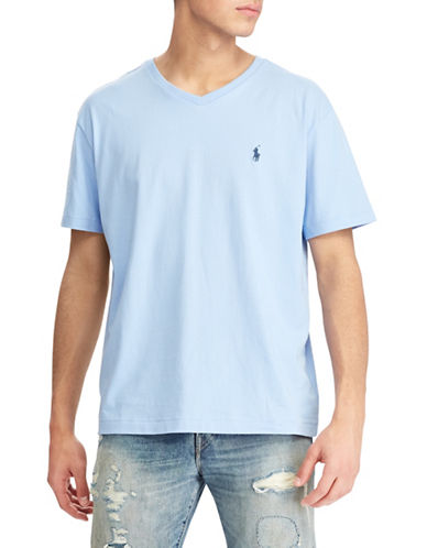 Polo Ralph Lauren Short Sleeve Cotton Tee-BLUE-Small 89706933_BLUE_Small