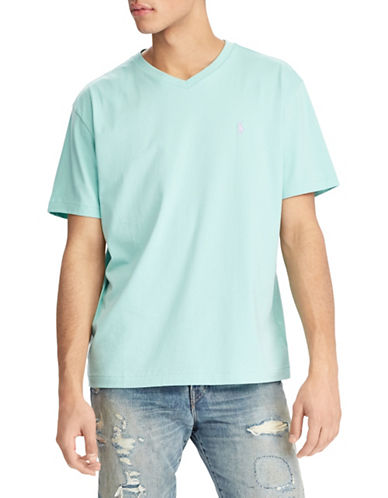 Polo Ralph Lauren Short Sleeve Cotton Tee-GREEN-Medium