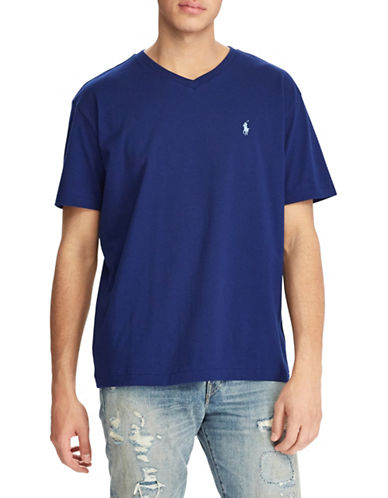 Polo Ralph Lauren Short Sleeve Cotton Tee-NAVY-Large