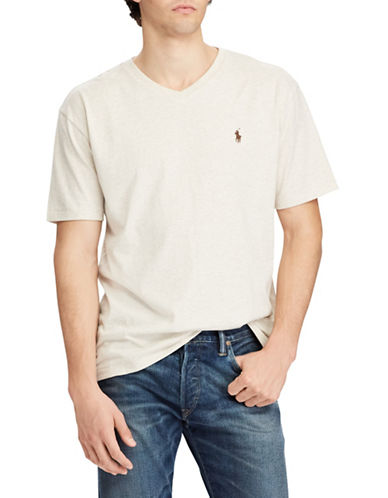 Polo Ralph Lauren Short Sleeve Cotton Tee-NATURAL-Medium