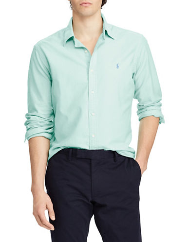 Polo Ralph Lauren Classic-Fit Cotton Sportshirt-GREEN-Small