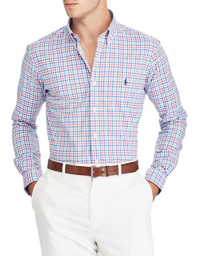 Polo Ralph Lauren Slim-Fit Cotton Sportshirt-BLUE-XX-Large