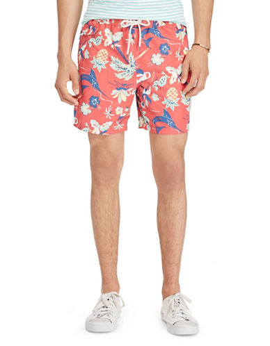 Polo Ralph Lauren Traveler Swim Trunks-PINK/BLUE-Medium