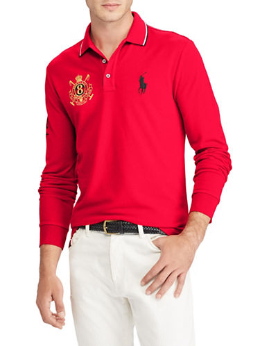 Polo Ralph Lauren Mesh Cotton Polo-RED-Large