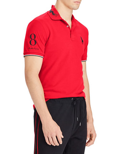 Polo Ralph Lauren Mesh Cotton Polo-RED-XX-Large