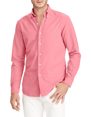 Polo Ralph Lauren Classic Fit Cotton Sport Shirt-RED-5X Tall