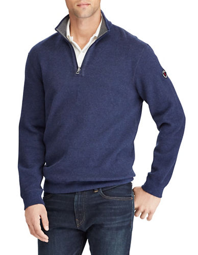 Polo Ralph Lauren Reversible Estate-Rib Pullover-BLUE-5X Big