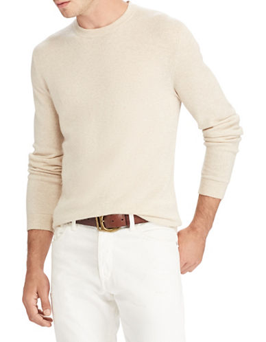 Polo Ralph Lauren Long Sleeve Cashmere Sweater-NATURAL-X-Large
