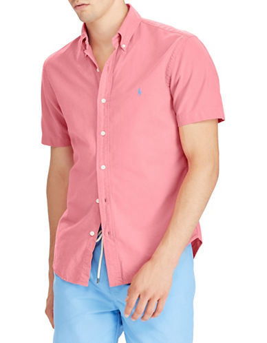 Polo Ralph Lauren Short-Sleeve Cotton Sportshirt-RED-X-Large