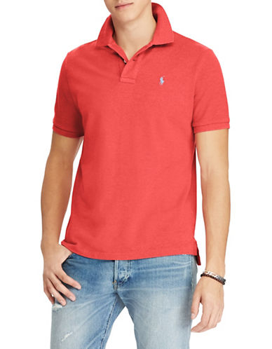 Polo Ralph Lauren Classic-Fit Cotton Mesh Polo-RED-Large