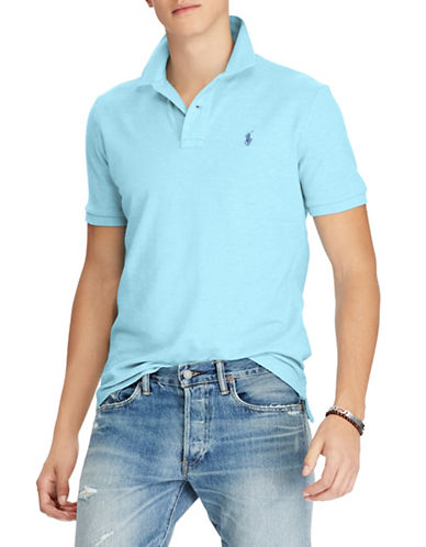 Polo Ralph Lauren Classic-Fit Cotton Mesh Polo-BLUE-Small