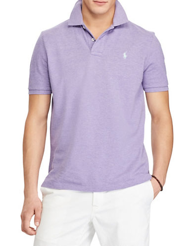 Polo Ralph Lauren Custom Slim Fit Mesh Polo-PURPLE-Medium