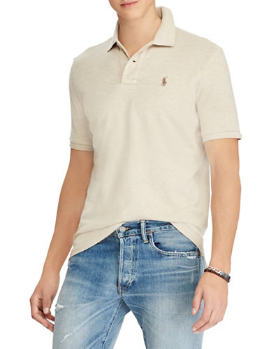 Polo Ralph Lauren Slim Fit Mesh Polo-NATURAL-X-Large