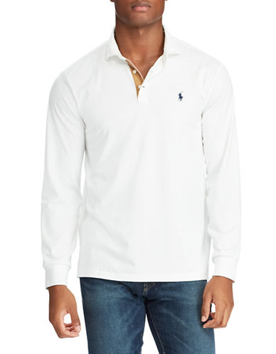 Polo Ralph Lauren Classic-Fit Long Sleeve Polo-WHITE-Large