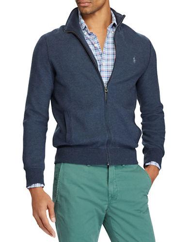Polo Ralph Lauren Cotton Full-Zip Sweater-NAVY-Medium