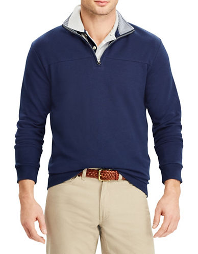 Chaps Quarter-Zip Cotton-Blend Pullover 89792601