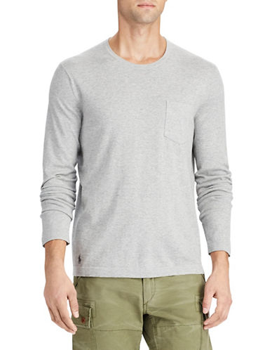 Polo Ralph Lauren Cotton Long Sleeve Sweater-GREY-Large 89707375_GREY_Large