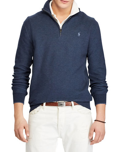 Polo Ralph Lauren Cotton Logo Sweater-BLUE-4X Big