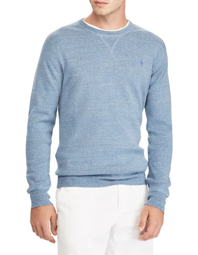 Polo Ralph Lauren Cotton Crew Neck Sweater-BLUE-1X Big
