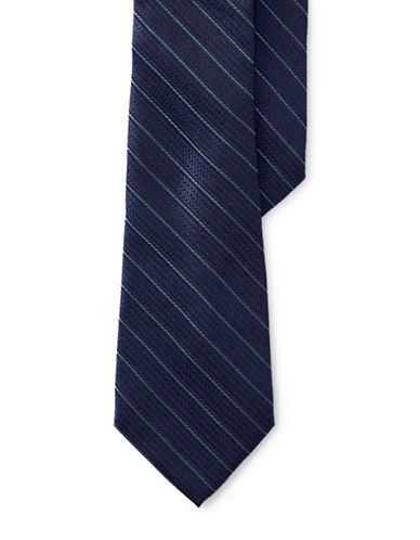 Lauren Ralph Lauren Rope Stripe Silk Tie-NAVY-One Size