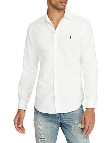 Polo Ralph Lauren Slim-Fit Cotton Sportshirt-WHITE-Medium